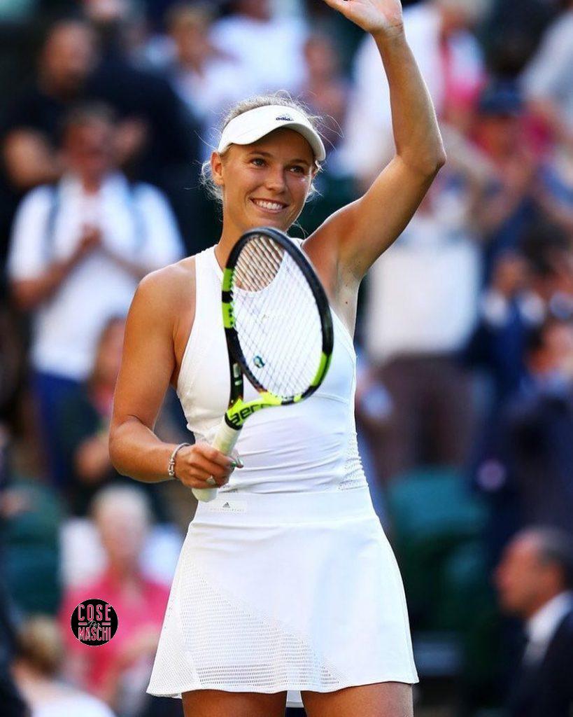 Caroline Wozniacki mentre gioca